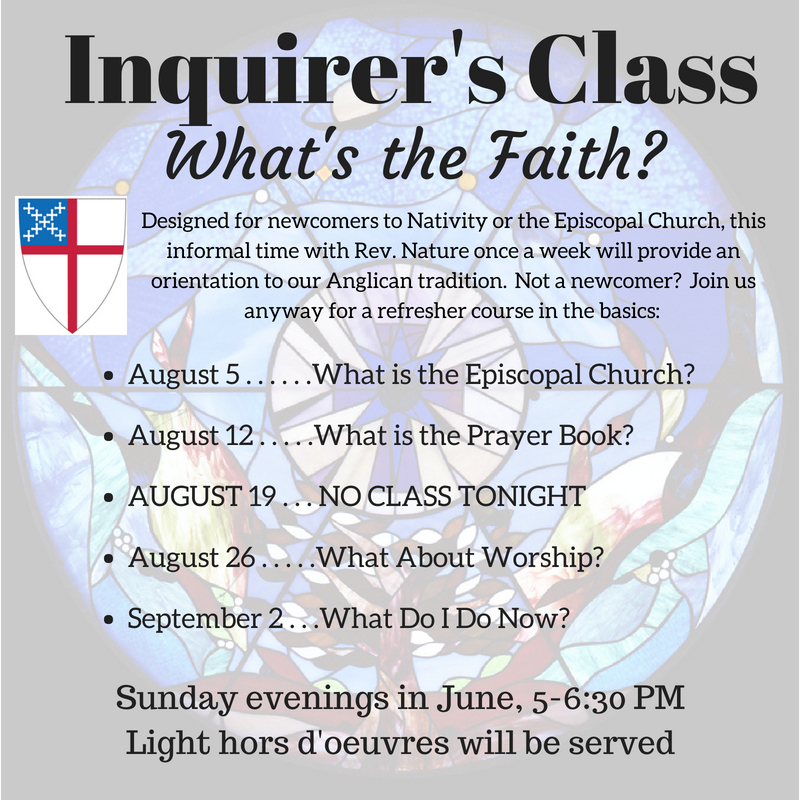 Inquirer's Class: What's the Faith?